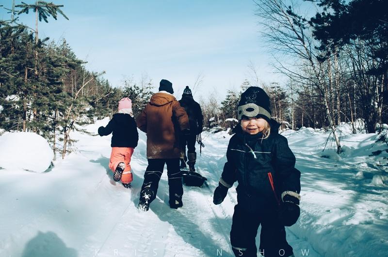 metsäretki talvella