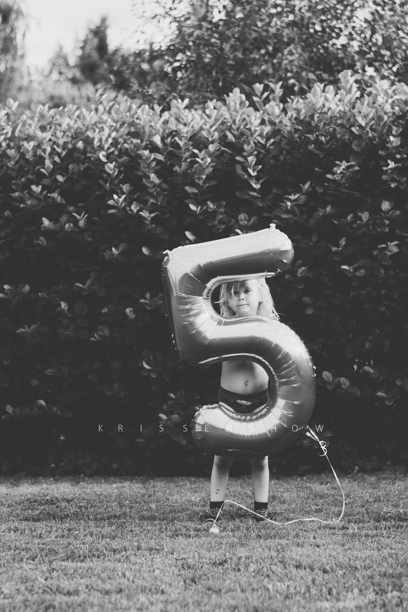 heinäkuu viisivuotias foliopallo